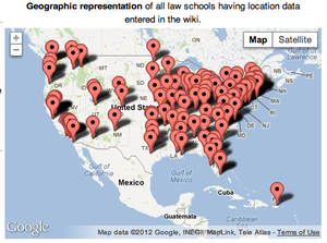 Geographic location of law schools