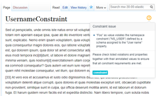 Constraint violation displayed using the page indicator (en)