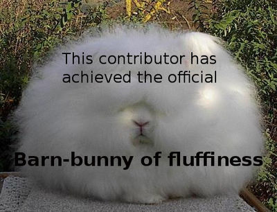 Karsten's award of fluff
