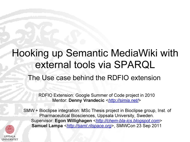 File:Hooking up Semantic MediaWiki with external tools via SPARQL (SMWConFall2011).pdf
