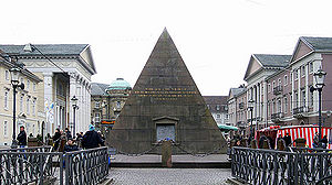 Karlsruhe - Market place with pyramid