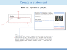 Create a statement using Semantic MediaWiki (en)