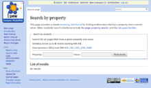 "Screenshot of special page ""SearchByProperty"" showing start screen (en)"