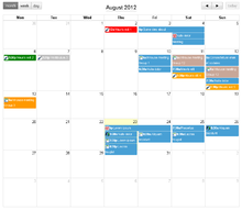 Event calendar with the monthly overview (en)