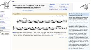 The Traditional Tune Archive - Main page